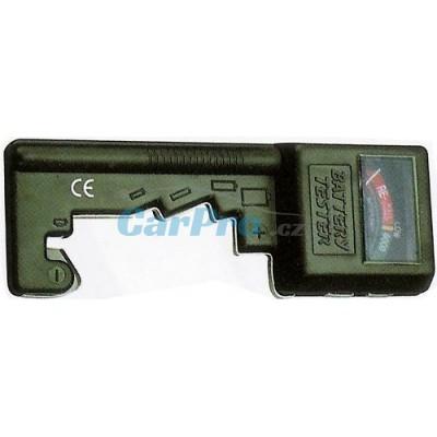 Tester baterií Kangtai-AAA,AA,C,D,9V a knoflík.
